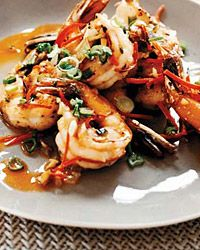 Sichuan Peppercorn Shrimp Recipe on Food & Wine. These Sichuan peppercorn-coated shrimp are stir-fried with two kinds of chiles, which gives them all kinds of heat. Shrimp Recipes, Fish Recipes, Asian Recipes, Chinese Recipes, Japanese Recipes, Thai Recipes, Seafood Dishes, Fish And Seafood, Tapas