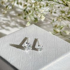 Excited to share this item from my #etsy shop: Dainty 4mm Square CZ stud earrings Sterling silver, Tiny 3mm Square diamond stud, small square crystal earrings, Cubic zirconia square stud Dainty Earrings, Dainty Jewelry, Sterling Silver Earrings Studs, Crystal Earrings, Stud Earrings, Jewelry Polishing Cloth, Diamond Studs, Etsy Shop, Delicate Jewelry