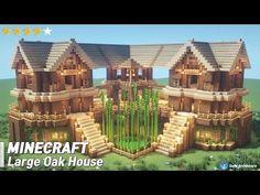 Casa Medieval Minecraft, Minecraft Farm, Minecraft Mansion, Minecraft Cottage, Minecraft Houses Survival, Easy Minecraft Houses, Minecraft House Tutorials, Minecraft Plans, Minecraft House Designs