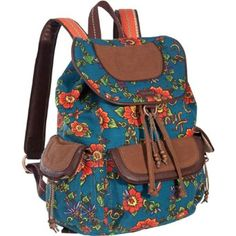 Amazon.com: Sakroots Artist Circle Backpack (Scarlet Flower Power): Clothing