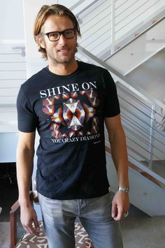 #JohannUrb in our Pink Floyd Shine On tee.