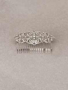 MONUMENTAL COMB - Bridal comb in aged silver and gemstones