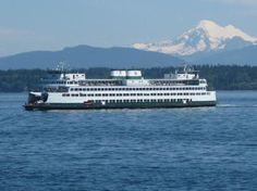 Washington State Ferries: Mt Rainier in Background