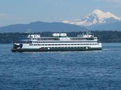 Washington State Ferries: Mt Rainier in Background