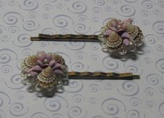 Items similar to Seashell bobby pins. Cute vintage hair accessory for ballet class, beach wedding, beach bride, bridesmaid. on Etsy Vintage Hairstyles, Sea Shells, Bobby Pins, Wedding Decorations, Hair Accessories, Trending Outfits, Unique Jewelry, Handmade Gifts, Cute