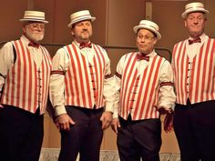 Barbershop Quartet Concert picture from Put-in-Bay Put In Bay Ohio, Old Circus, Slaughterhouse Five, Barber Shop Quartet, 1920s Costume, Girls In Love, Costume Design, Costumes, Concert