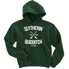 Slytherin Quidditch Team Seeker Adult Unisex Hoodie by LucyGooseCo on Etsy https://www.etsy.com/listing/246363363/slytherin-quidditch-team-seeker-adult