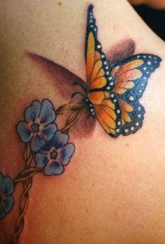 Schmetterling Tattoo kreative Ideen