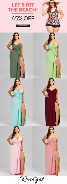 Up to 65% off. Free shipping worldwide.Plus Size Flowy Cover Up Wrap Dress. #plussize #swimwears #beachstyle #holiday #rosegal #summer #ideas Beach Skirt, Beach Dresses, Bikini Beach, Beach Bum, Wrap Dress, Dress Up, Dedicated Follower Of Fashion, Curvy Bikini, Cut Out Swimsuits