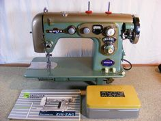 HEAVY DUTY WHITE SEWING MACHINE 761 ZIG ZAG AUTOMATIC SEW DISCS collection created by kmil4811