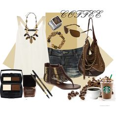 Coffee, Please, created by missyfer88 on Polyvore...I'll have a tall latte, please.