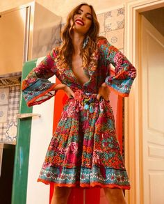 Ibiza Fashion, Dresses With Sleeves, Summer Dresses, Long Sleeve, Style, Swag, Sleeve Dresses, Summer Sundresses, Long Dress Patterns