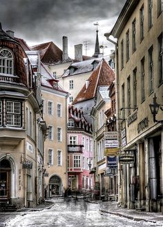 Tallinn, Estonia.  Here Ben and I shall rent bikes and see the city as it was meant to be seen.