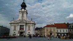 Plac Jana Pawła 2 w Wadowicach.
