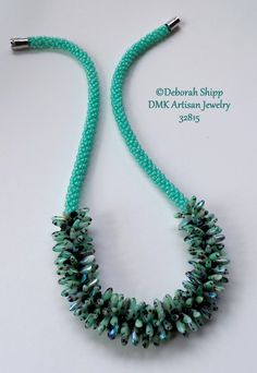 TUTORIAL ONLY  Wonders of the Sea Kumihimo by DMKArtisanJewelry  Czech Daggers, SuperUnos, Kumihimo