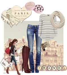 """""""Casual in Paris"""" by style-by-larsen ❤ liked on Polyvore"""