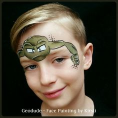 Geodude - Pokemon design from Face Painting by Kirsti Facebook & Instagram
