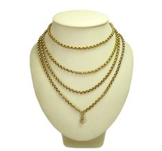 Victorian yellow gold muff chain, Style me with any outfit!