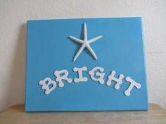 Beach House Nursery Art  Starfish Canvas  Star Bright by CereusArt, $35.00