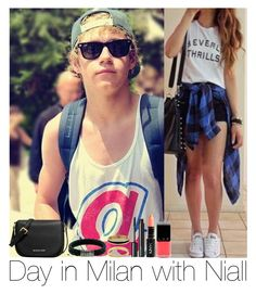 """Day In Milan With Niall"" by hazzgirl03 ❤ liked on Polyvore featuring beauty, MICHAEL Michael Kors, Chloé, John Hardy, Inez & Vinoodh and Witchery"