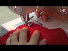 Обработка платья подкладкой. Как притачать подкладку к потайной застежке...