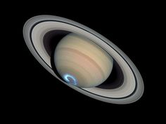 Saturn's dynamic aurorae 1 (Jan 28, 2004) NASA, ESA, J. Clarke (Boston University, USA), and Z. Levay (STScI)
