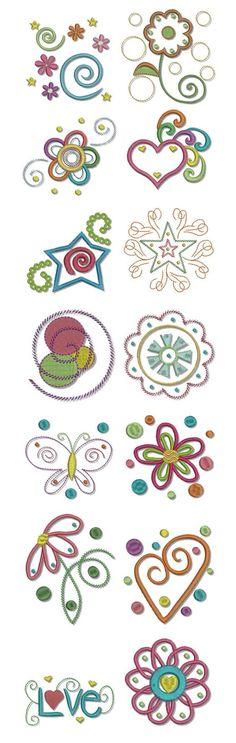Embroidery | Free Machine Embroidery Designs | Dots n Doodles Too