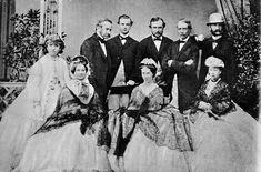 Die Fürstlich Hessische Familie auf Schloss Heiligenberg, 1864