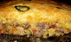 Mexican Cornbread Casserole... made with ground beef, this is delicious...I make mine in iron skillet...