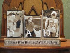 Dad Sign, Fathers Day Gift, Dad Photo Gift Blocks, Customized Dad Sign Word Blocks with Pictures, Fa Birthday Presents For Dad, Fathers Day Presents, Fathers Day Crafts, Dad Birthday, Birthday Gifts, Diy Father's Day Gifts, Father's Day Diy, Daddy Gifts, Gifts For Dad