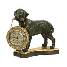 Sterling Labrador Retriever Desk Display Clock #interiordesign #homeimprovement #sterling #displayclock