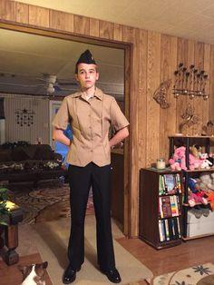 Tay in her JROTC uniform