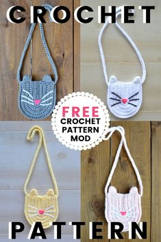 How To Make A Cute Crochet Kitty Purse For Little Girls - Crochet crafts - How To Make A Cute Crochet Kitty Purse For Little Girls Crochet kitty cat bag, cat crochet pattern, crochet cat bag , crochet pattern, cat crochet patterns Crochet Toddler, Crochet Girls, Cute Crochet, Crochet For Kids, Crochet Crafts, Crochet Baby, Crochet Purse Patterns, Handbag Patterns, Crochet Purses