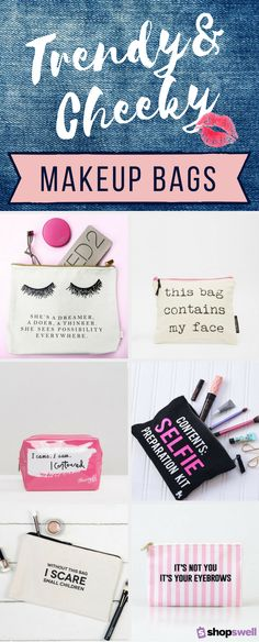 15 trendy makeup bags that are a must-have for beauty and fashion lovers. Can you say stocking stuffer?!