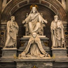 Monument to Pius Viii Saint Peters Basilica Rome Italy Canvas Art - Reynold Mainse Design Pics (24 x 24)