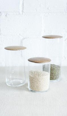 Simple Glass Canisters