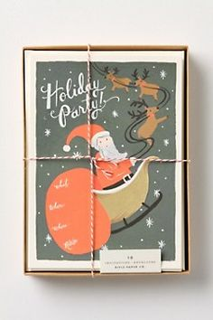 IN LOVE with these holiday party invites. I want to throw a big one next year and use these cards as invites!