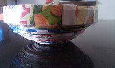 Learn to make a bowl from recycled junk mail
