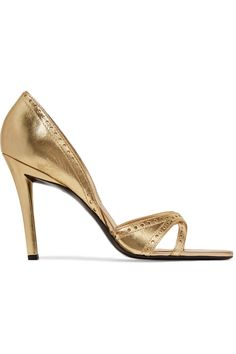 ROGER VIVIER Metallic Smooth And Perforated Leather Pumps. #rogervivier #shoes #pumps