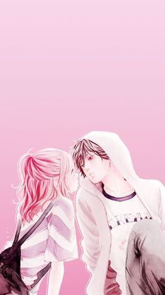 Let's spread Ao haru ride to all over the world with us to get an anime stuff you want free. Futaba Yoshioka, Futaba Y Kou, Manga Couple, Anime Love Couple, Ao Haru Ride Anime, Tanaka Kou, Manga Anime, Photo Manga, Couples Anime