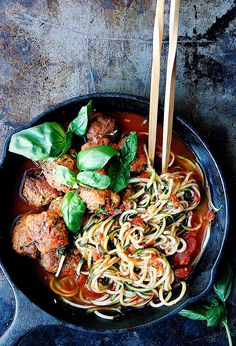 ... Spaghetti Meatballs - I Heart Umami | Everyday Asian-Inspired Paleo