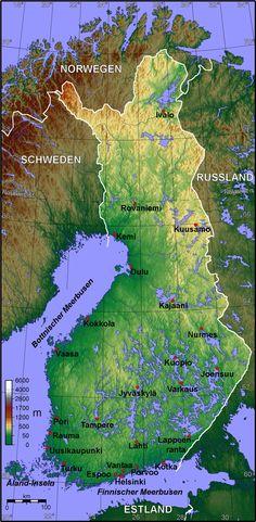 map of finland Lappland, Helsinki, Montenegro, Finland Map, Malta, Family Tree For Kids, Country Maps, Map Globe, Alaska