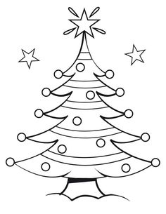 plain christmas tree coloring page.html