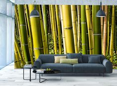 Bamboo Photo Wallpaper Green Forest MURAL Tree Wooden WALL DECOR Room Art POSTER