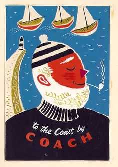 travel poster by Daphne Padden (1960's)