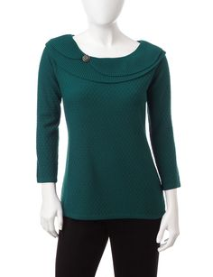 rebecca malone petite marilyn knit sweater goodys