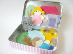 {felt toys} How To Make Felt Magnetic Toy Set