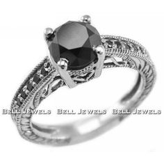 If I ever get engaged again I would love to have a black diamond ring set in white gold.  Beautiful and elegant!