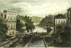 Erie Canal Lockport, 1839
