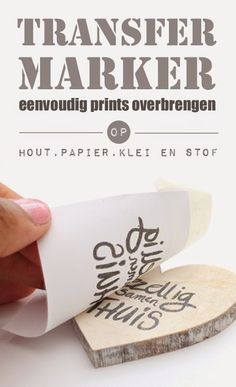 DIY: Transfer Marker -simple transfer prints on fabric, wood, paper and clay                                                                                                                                                                                 More